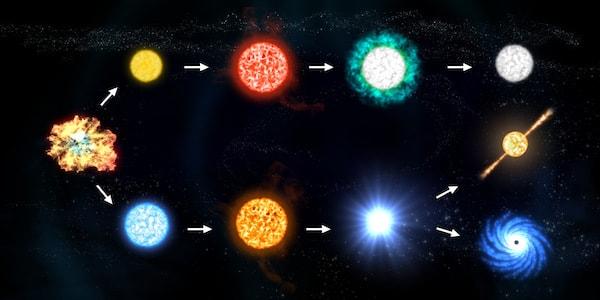 Stjärnors livscykel illustrerad